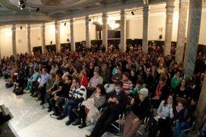 Acto de presentación oficial de Ganemos Madrid, el 4 de noviembre de 2014. / Juan Zarza